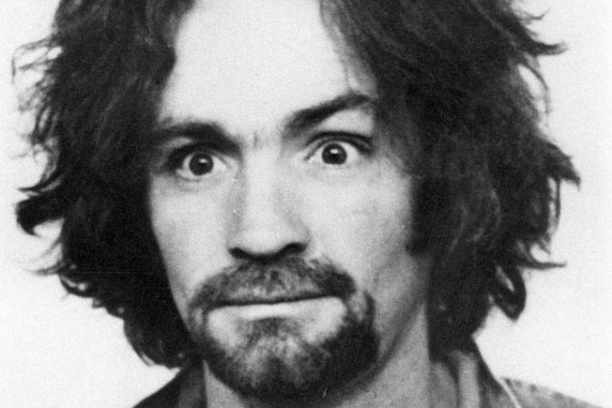 Police mugshot of Charles Manson from 1969