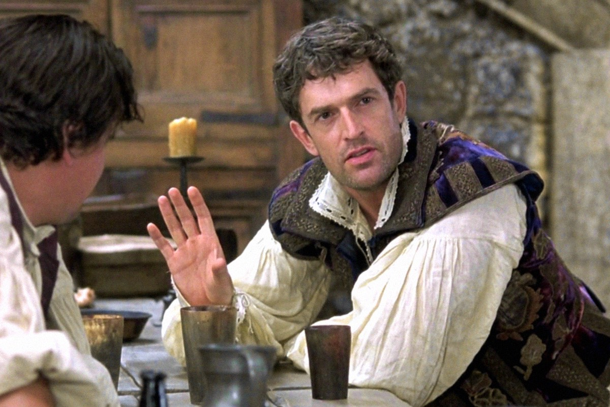 Christopher Marlow as played by Rupert Everett in the film Shakespeare in Love