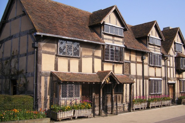 The house in Stratford Shakespeare was supposedly born