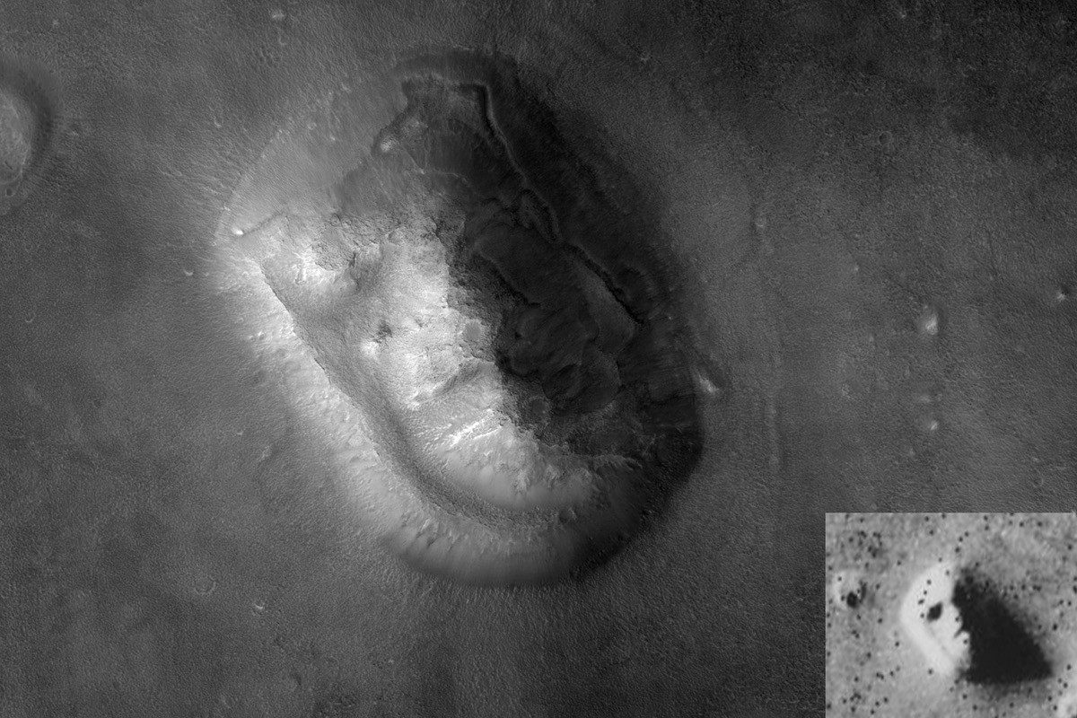 The 'Face on Mars' is simply an optical illusion