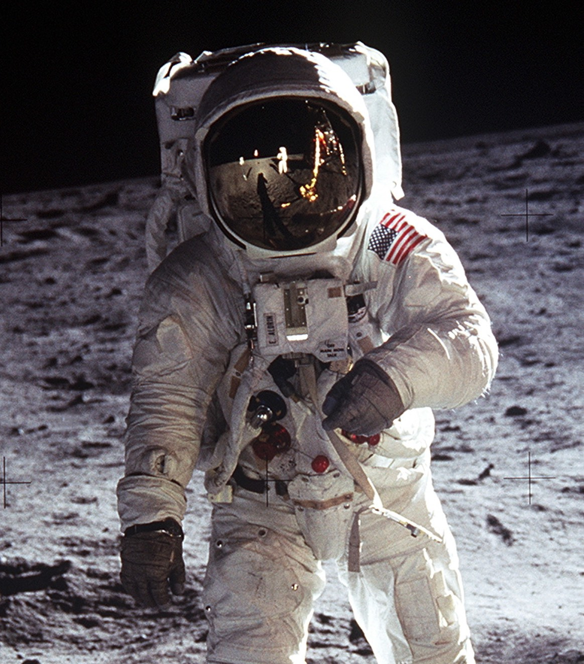 moon landing hoax Many moon landing hoax debunking theories have been made to explain this the most popular explanation is the earth gives off its own light that highlights the astronauts.